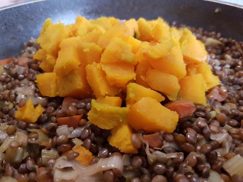 Ricetta lenticchie con la zucca