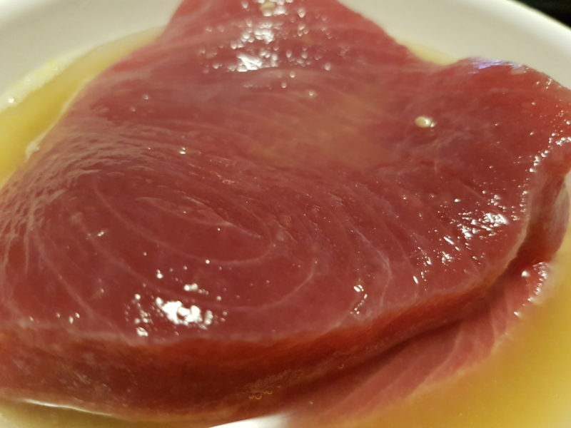 Tagliata di tonno con quinoa e zucca