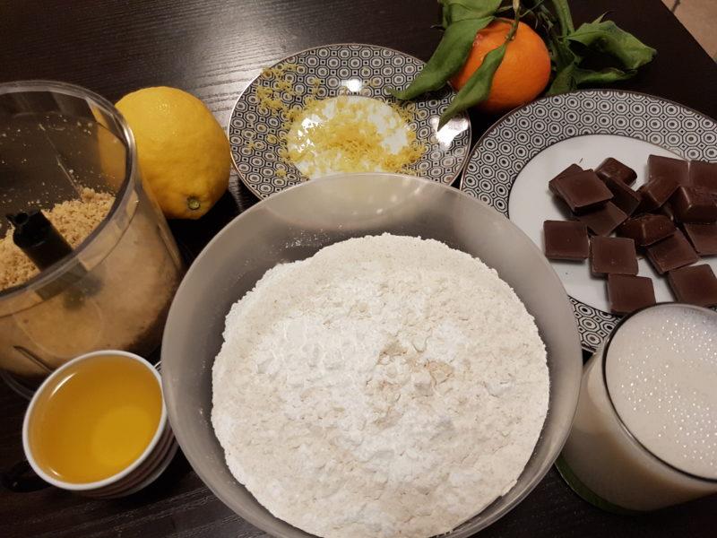Torta Biscottata Cioccolato e Noci