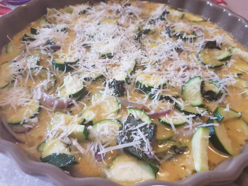 Frittata con zucchine e menta al forno