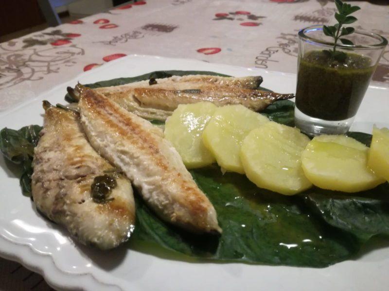 Sgombro in salsa di olive taggiasche ed erbe aromatiche