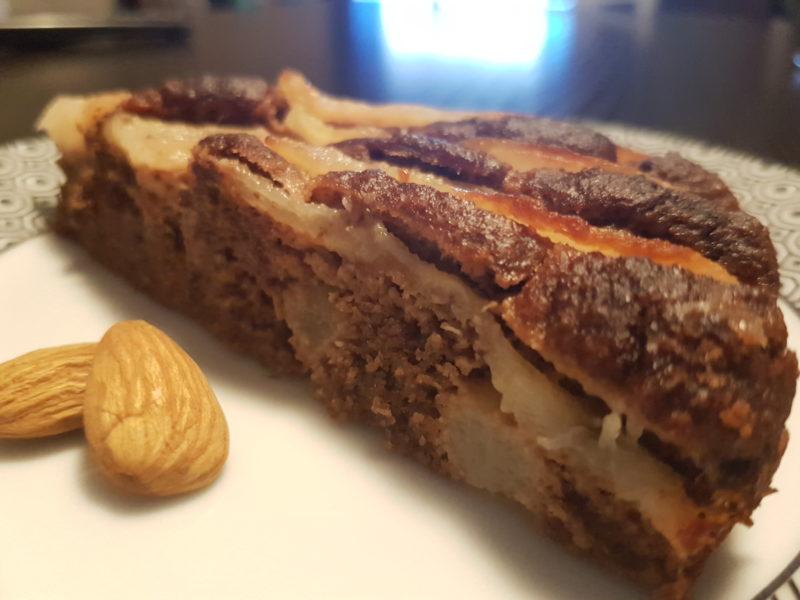 Torta pere e cioccolato con farina di mandorle