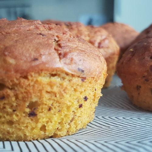 Muffins dolci o salati con farina di lenticchie rosse