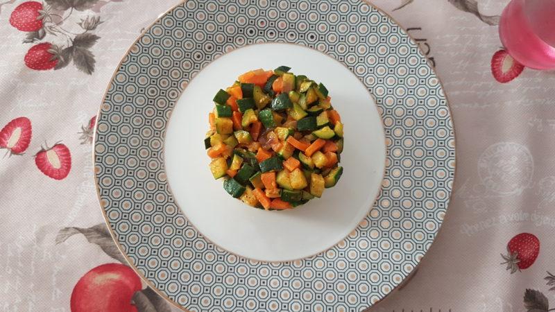 Bulgur alle spezie zucchine e carote saltate