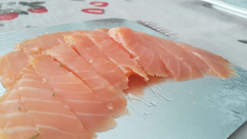 Mafalde integrali con agretti e salmone