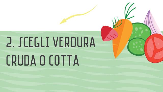 Aggiungi la verdura- Crea il tuo primo piatto