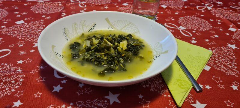 Zuppa di verdure verdi